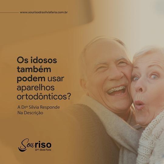 Os idosos também podem usar aparelhos ortodônticos?